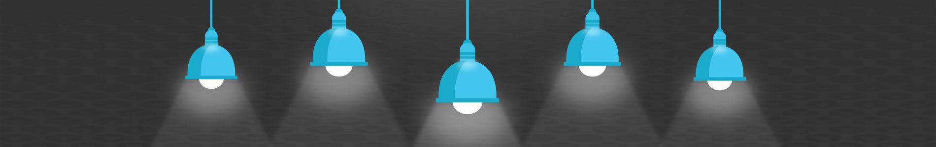 Illustration of ceiling lights